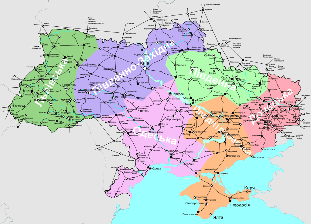 карта Укрзалізниця
